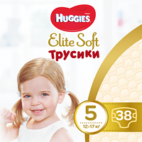 Трусики  подгузники Huggies Elite Soft 5 (12-17 кг) 38 шт.