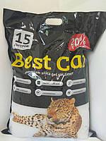 Бест Кет Best Cat силикагелевый наполнитель для кошачьего туалета без запаха 15 л (5,9 кг)
