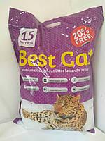 Бест Кет Best Cat силикагелевый наполнитель для кошачьего туалета с лавадой 15 л (5,9 кг)