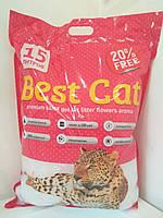 Бест Кет Best Cat силикагелевый наполнитель для кошачьего туалета цветы 15 л (5,9 кг)