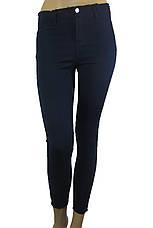 Жіночі чорні джинси з високою талією і необробленим поясом, фото 3