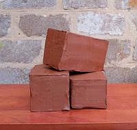 Глина красная 6 кг - натуральная гончарная глина для творчества, терракотовая глина