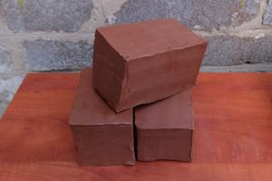 Глина красная для творчества 3 кг - керамическая масса терракотовая