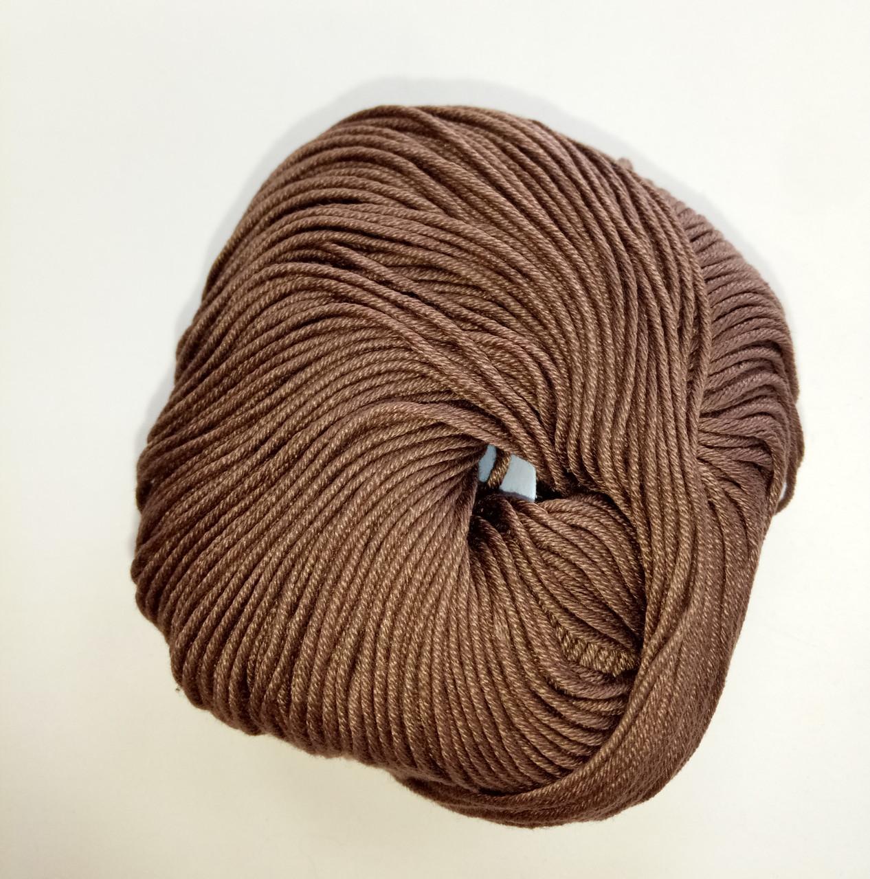 Пряжа для вязания Эджитто TITAN WOOL шоколад 6