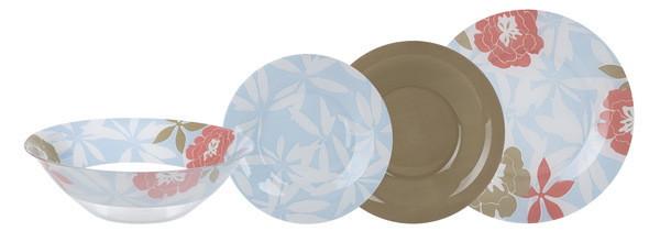 Peony Floral Blue Сервиз столовый 19 пр. Luminarc N6264