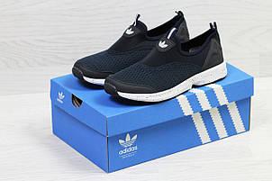 Мужские кроссовки Adidas,сетка,темно синие с белым, фото 2
