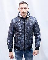 Куртка Мужская весна-осень двухсторонняя на синтепоне