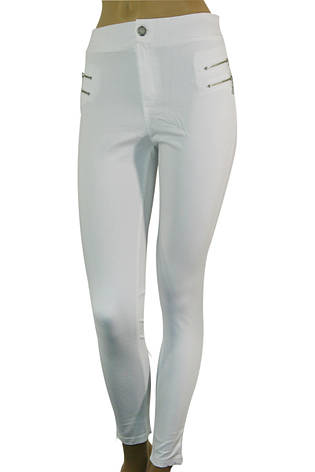 Жіночі білі джинси скіні з високою талією , фото 2