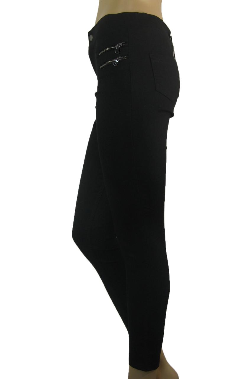 Жіночі чорні джинси скіні з високою талією