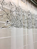 "Тюль арка ""Зефир"", Сакура белая (кухонные шторы), фото 3"