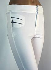 Жіночі білі джинси скіні з високою талією , фото 3