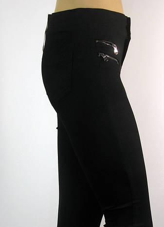 Жіночі чорні джинси скіні з високою талією , фото 2