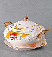 "Супница на тарелке ""Тюльпаны"" ALF 55-060"
