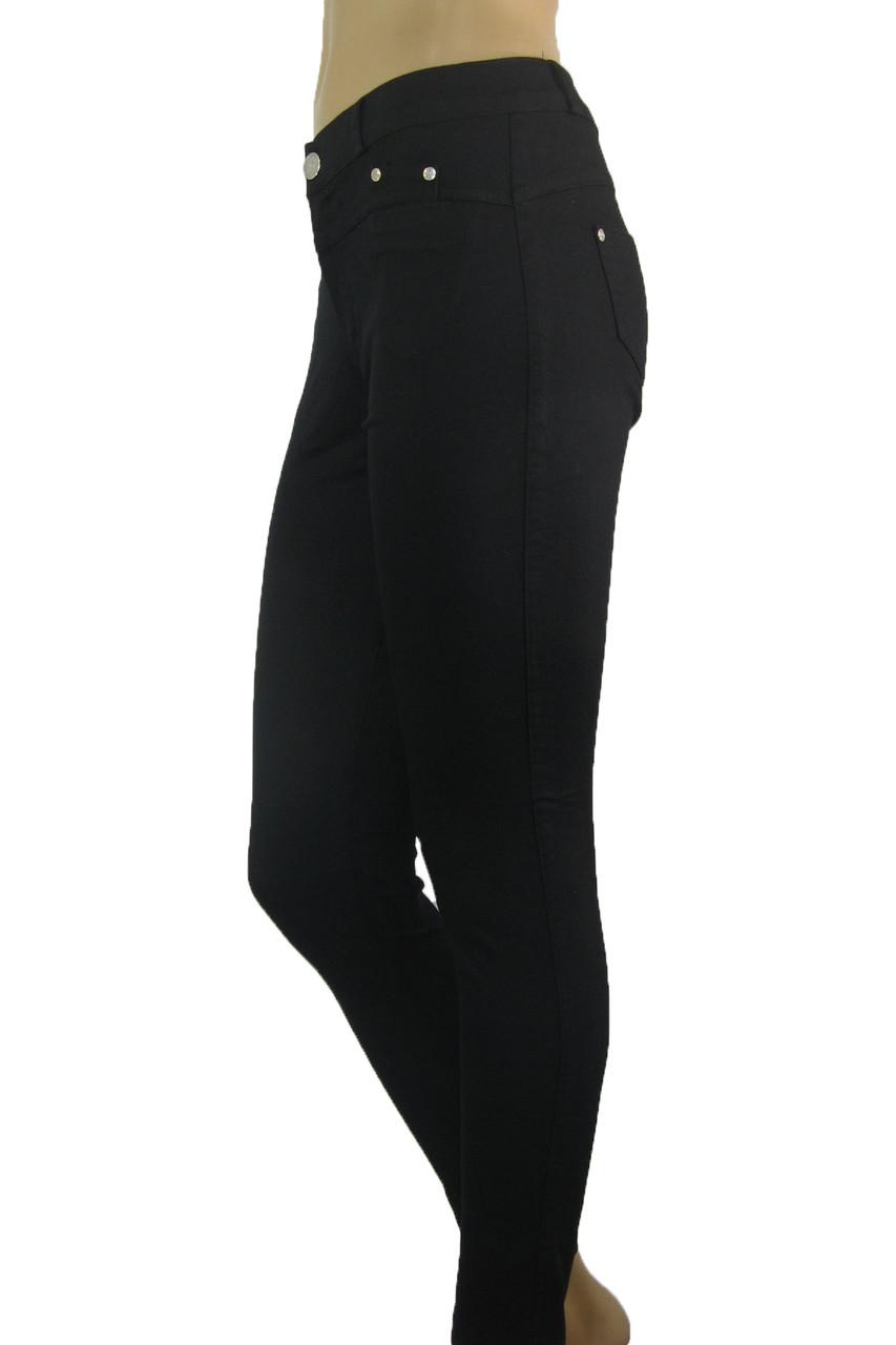 Жіночі літні чорні джинси скіні