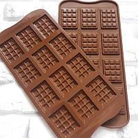 """Форма силиконовая для шоколада """"плитка"""" 38х28х4,5 мм"""