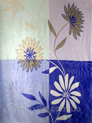 """Плед из микрофибры Elway """"Цветы на синем"""" (160х210), фото 2"""