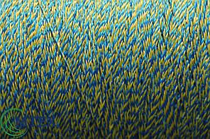 Нитка полипропиленовая 0.7мм Желто-Синяя 5000метров 1,2кг