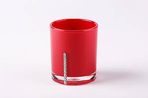 Стакан для зубных щеток и пасты Рома цвет красный