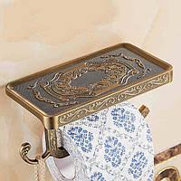 WANFANWF1018ВаннаякомнатаПолкаАнтичная резьба Туалетная рулонная бумажная полка