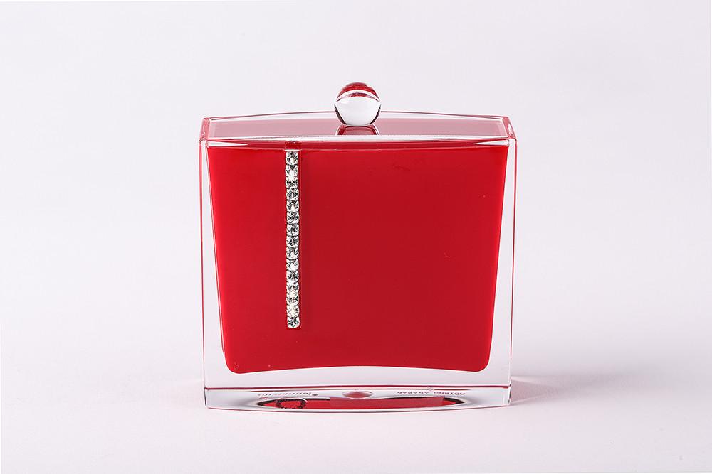 Баночка для ватных дисков Рома цвет красный