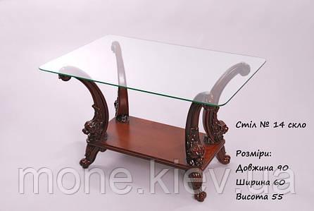 Прямоугольный чайный столик с полочкой в стиле барокко №14, фото 2