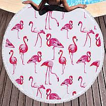 Мандала Розовый Фламинго коврик подстилка на пляж