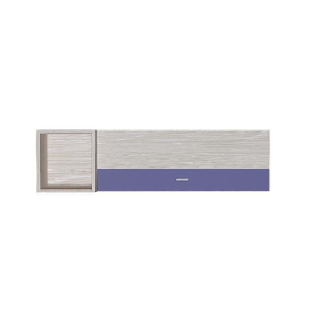 Полиця навісна з ДСП навісна AXEL N Blonski атлант+фіолет синій