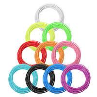 10 цветов / упаковка 5/10 м на цвет Длина 1.75 мм филамент PCL для 3D-печати Ручка 0,4 мм сопло