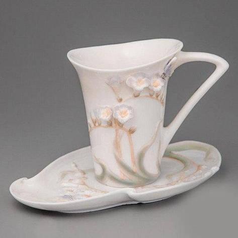 """Чашка, блюдце, ложка """"Бабочка в цветах"""" (10 см), фото 2"""