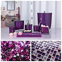 Набор аксессуаров для ванной комнаты из 6 предметов Roma фиолетового цвета