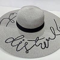 Шляпа женская летняя зонт с пайетками
