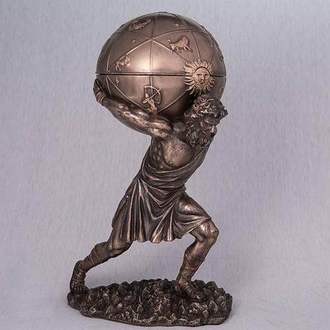 Статуэтка-шкатулка Атлант (28 см) Veronese Италия 76373A4, фото 2