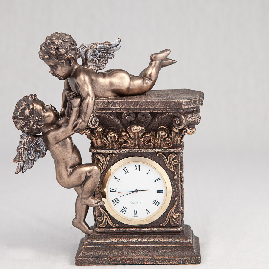 Часы Играющие ангелочки Veronese Италия (17 см) 74349A4