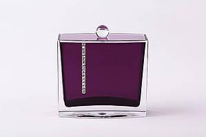 Баночка для ватных дисков Рома цвет фиолетовый