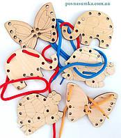 Деревянная шнуровка (цена за 1 шт.), шнуровочка