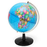 Карта земного шара Вращающаяся карта Земли Атлас География Диаметр 32 см Прочная основа