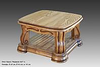 Красивый  стол с резьбой Гризли