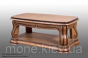 Красивый  стол с резьбой Гризли, фото 2