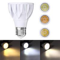 E27 7W Super Bright Dimmable Par 20 LED COB Spot Light Bulb Epistar Лампа AC220V