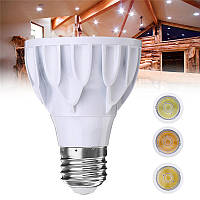 E27 7W Dimmable Par 20 LED COB White Shell Spot Light Bulb Лампа для домашнего украшения AC110V