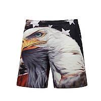 S5235 Мужские шорты Брюки 3D Eagle Печать Loose Board Shorts Comfortable Пляжный