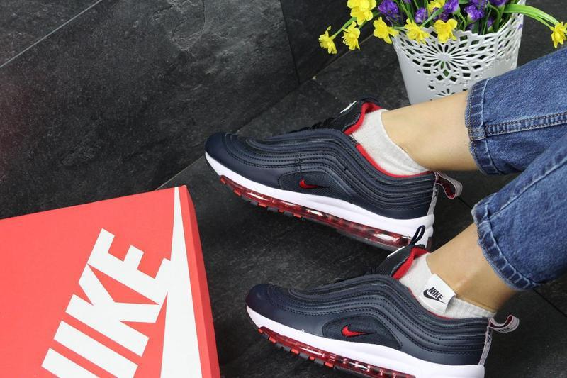 b8217f762b16 Женские кроссовки в стиле Nike 97, синие с красным   кроссовки женские Найк  97,