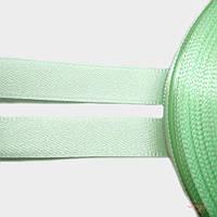 Атласная лента 10мм для плетения 1м для рукоделия  цвет мятный