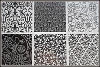 Текстурные листы Цветочные мотивы 25,5*18 см (6 шт), фото 1