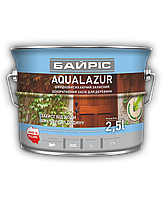 Декоративная акриловая лазурь для дерева Байрис Aqualazur (коричневый) 2.5л