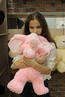 Плюшевый слонёнок (розовый) 65 см.