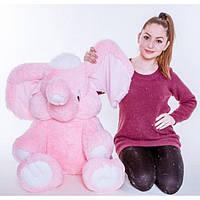Плюшевый слонёнок (розовый) 80 см., фото 1