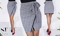 Короткая юбка на запах батал