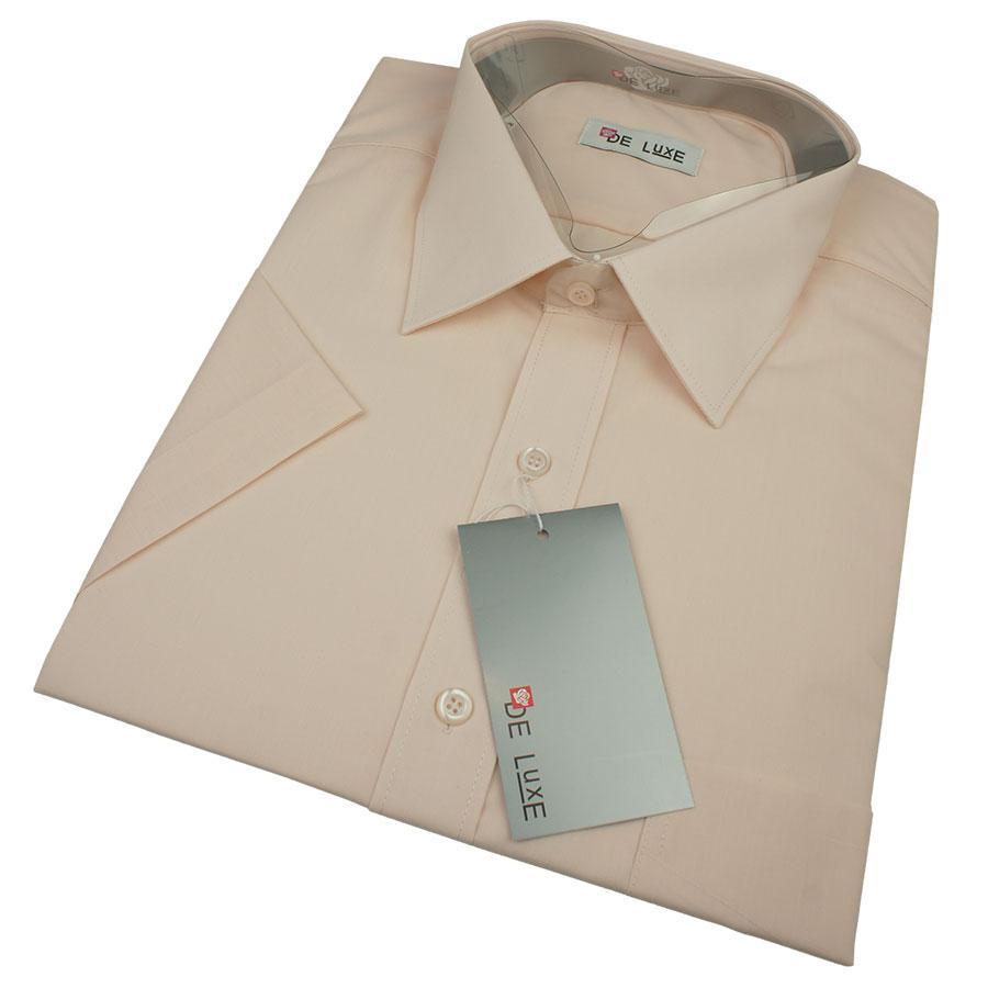 Классическая мужская рубашка De Luxe 209К розового цвета (большой размер)