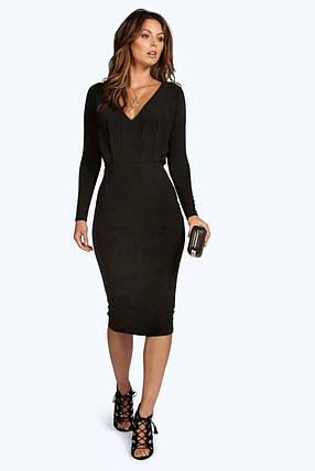 Новое черное миди платье Boohoo, фото 2